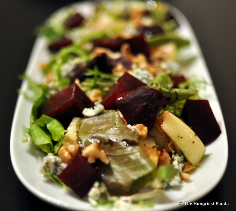 Recipe: Roasted Beet Salad with Pears, Walnuts and Blue Cheese | The ...