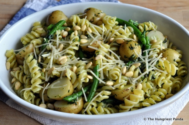 Pesto, Potatoes, Green Beans Pasta4