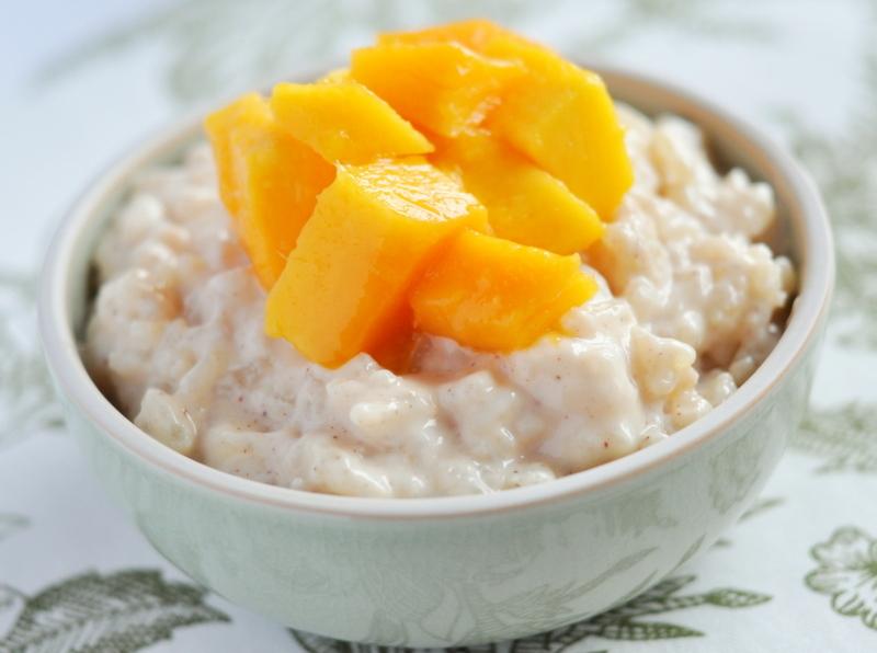 Recipe: Rice Pudding with Mango | The Hungriest Panda