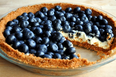 Blueberry Lemon Mascarpone Cookie Crust Tart - featured